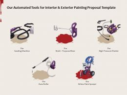 Our Automated Tools For Interior And Exterior Painting Proposal Template Ppt Powerpoint Presentation