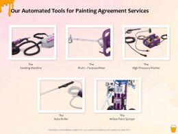 Our Automated Tools For Painting Agreement Services Ppt Powerpoint Presentation Icon Visual Aids