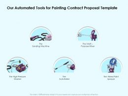 Our Automated Tools For Painting Contract Proposal Template Ppt Portfolio