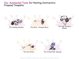 Our Automated Tools For Painting Contractors Proposal Template Ppt Powerpoint Presentation Ideas