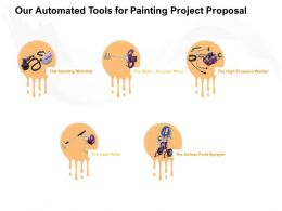Our Automated Tools For Painting Project Proposal Ppt Powerpoint Presentation Outline