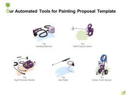Our Automated Tools For Painting Proposal Template Ppt Powerpoint Presentation Infographics