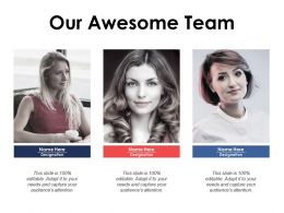 Our Awesome Team Communication Introduction C407 Ppt Powerpoint Styles Maker