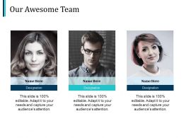 Our Awesome Team Communication Ppt Pictures Design Templates