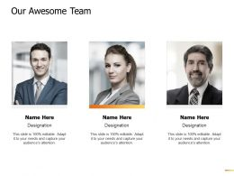 Our Awesome Team Communication Ppt Powerpoint Presentation Gallery Aids