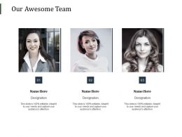 Our Awesome Team Introduction F304 Ppt Powerpoint Presentation Slides Mockup