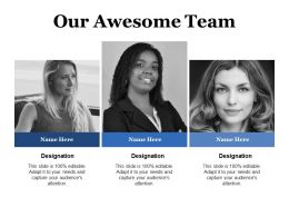 Our Awesome Team Ppt Powerpoint Presentation Files