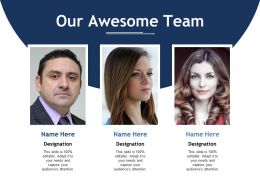 Our Awesome Team Ppt Professional Background Designs