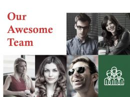 Our Awesome Team Ppt Professional Example