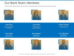 Our Bank Team Members Chester Burklight Ppt Powerpoint Presentation Outline Graphics