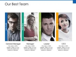 Our Best Team Communication Ppt Powerpoint Presentation File Files