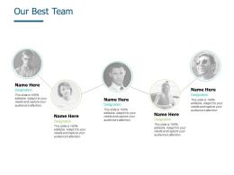 Our Best Team Introduction A543 Ppt Powerpoint Presentation Slides Designs