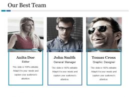 Our Best Team Ppt Gallery Summary