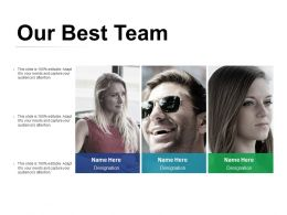 Our Best Team Ppt Visual Aids Background Images