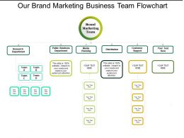 Our Brand Marketing Business Team Flowchart