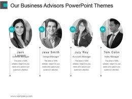 Our Business Advisors Powerpoint Themes
