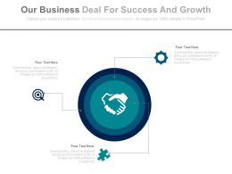 Our Business Deal For Success And Growth Flat Powerpoint Design