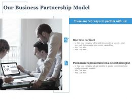 Our Business Partnership Model Ppt Powerpoint Presentation Icon Topics