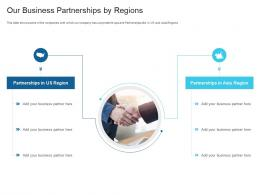 Our Business Partnerships By Regions Raise Debt Capital Commercial Finance Companies Ppt Slide