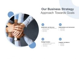 Our Business Strategy Approach Towards Goals