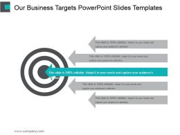 Our Business Targets Powerpoint Slides Templates