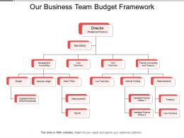 Our Business Team Budget Framework