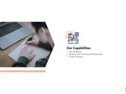 Our Capabilities Vocational Ppt Powerpoint Presentation Pictures Styles