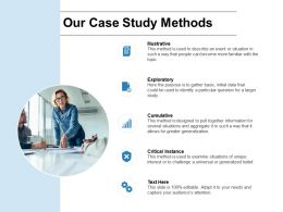 Our Case Study Methods Exploratory Ppt Powerpoint Presentation Model Inspiration