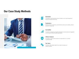 Our Case Study Methods Ppt Powerpoint Presentation Inspiration Show