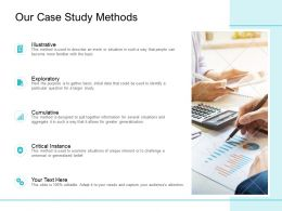 Our Case Study Methods Ppt Powerpoint Presentation Pictures File Formats