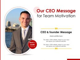 Our CEO Message For Team Motivation