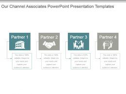 Our Channel Associates Powerpoint Presentation Templates