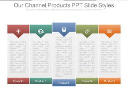 Our Channel Products Ppt Slide Styles