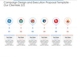 Our Clientele Campaign Design And Execution Proposal Template Ppt Powerpoint Presentation File