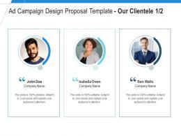 Our Clientele Communication Ad Campaign Design Proposal Template Ppt Powerpoint Tutorials