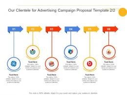 Our Clientele For Advertising Campaign Proposal Template Ppt Powerpoint Presentation Gallery