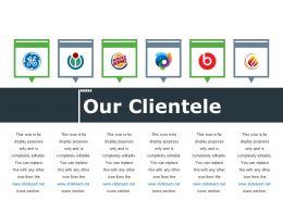 Our Clientele Ppt File Visuals