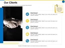 Our Clients Business Manual Ppt Powerpoint Presentation Icon Portrait