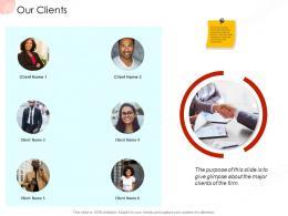 Our Clients Business Procedure Manual Ppt Outline Topics
