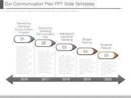 Our Communication Plan Ppt Slide Templates
