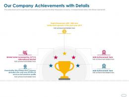 Our Company Achievements With Details Ppt Powerpoint Presentation Pictures Smartart