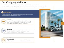 Our Company At Glance Mission Ppt Powerpoint Presentation Show Example File