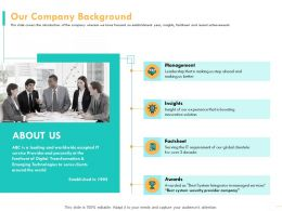 Our Company Background Factsheet Powerpoint Presentation Templates