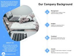 Our Company Background Security Company Ppt Powerpoint Presentation Introduction