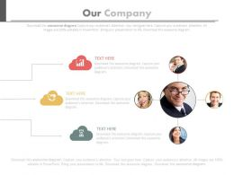 Our Company Network With Various Operations Powerpoint Slides
