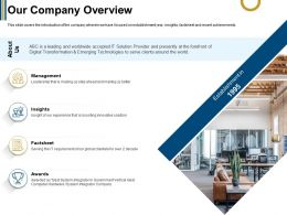 Our Company Overview Boosting Ppt Powerpoint Presentation Infographics Clipart Images