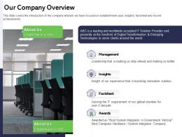 Our Company Overview Us Better Ppt Powerpoint Presentation Infographics