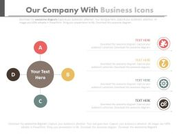 Our Company Slide With Business Icons Flat Powerpoint Design