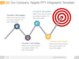 Our Company Targets Ppt Infographic Template