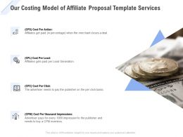 Our Costing Model Of Affiliate Proposal Template Services Ppt Slides